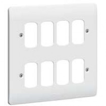 Legrand Synergy 730183 8G White Grid Plate