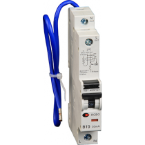 Lewden RCBO-50/30/SP 50A 30mA 1 Module Blue Lead RCBO