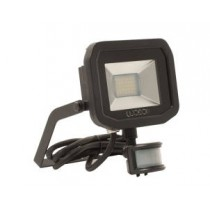 Luceco LFSP12B13-02, BG 15W LED PIR FLOOD 3000K BLACK, Slimline Floodlights with PIR