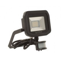 Luceco LFSP18B130-02, BG 23W LED PIR FLOOD 3000K BLACK, Slimline Floodlights with PIR