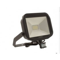 Luceco LFSP30B130-02, BG 38W LED PIR FLOOD 3000K BLACK, Slimline Floodlights with PIR
