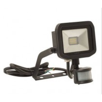 Luceco LFSP6B130-02, BG 8W LED PIR FLOOD 3000K BLACK, Slimline Floodlights with PIR