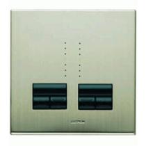 Lutron Rania RIDU-252B-FSN-M IR Dual Remote Control Dimmer Universal Satin Nickel