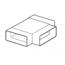 Manrose 55582, 204 x 60mm, Horizontal T-Piece - Adaptor to Connect Flat Channel Ducting