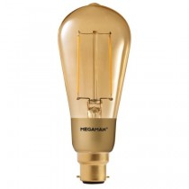 Megaman 146482 3W Gold Filament ST Lamp Dimming B22 2200K