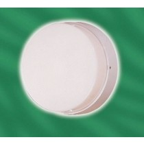 Menvier RLO28 28w 2D IP65 vandal resistant drum fitting - white base OPAL COVER complete with lamp