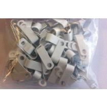 Metal P clips for Fireproof cable for 1.5mm 4c+e and 2.5mm 2c+e White (pack of 100) (AP9W)