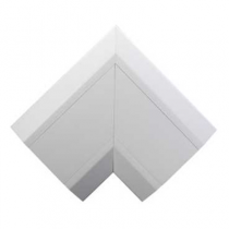 Mita ERF3CW White UPVC Flat Riser Angle (ER)