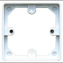 MK Logic K2134WHI 20mm Pattress, 1 Gang for Logic Plus Accessories