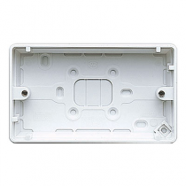MK Logic K2142WHI Box, 2 Gang Surface