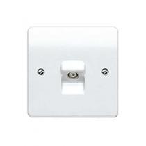 MK Logic K3520WHI Socket, TV/FM Single Non Isolated