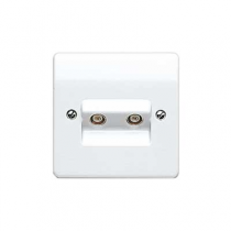 MK Logic K3523WHI Socket, TV/FM Twin Non Isolated