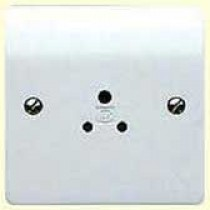 MK Logic K771 Shuttered Socket, 5A Round Pin Unswitched