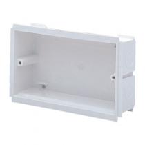 MK Electrics VTS7025WHI 25MM Deep 2 Gang Outlet Box