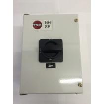 Wylex NHSW320 20A Triple pole & N enclosed isolator