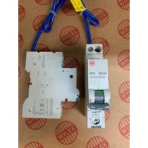 Electrium NHXS1B16 RCBO, SP&N Single Module B Curve, Size: 16A 30mA
