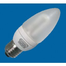 Omicron OMC9706 7W E27 Compact Fluorescent Lamp Energy Saving T3 Candle 2700K (OMC9706)