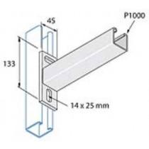 Unistrut Channel P2663/450, Cantilever Arm, for P1000 Channel, Size: 41x41 Plain 450mm