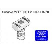 Unistrut Channel PNL08ZP, Channel Nut, Long Spring, Size: M8