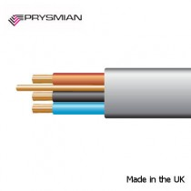 Prysmian 1.0mm² 6243YH Grey Made in UK BASEC approved