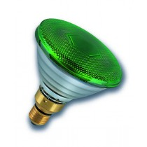 Radium Ralogen RJH PAR38 75W/240/G/E27 ES Halogen PAR38 Reflector Lamp 75W Flood Green