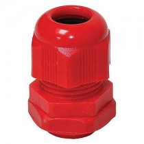 Wiska 10100614 GLP20+ red Cable gland with lock nut, polyamide