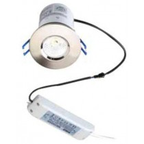 Robus LED RF7LEDDWW-13, Downlight, LED Fire Rated Dimmable Brushed, Chrome Trim IP44, Size: 9W, Finish: 3000K