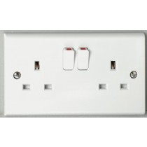 Deta S1209SDP 13A 2 gang Switched Socket DP