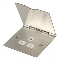 Scolmore Click FS030SS Stainless Steel 13A 1 Gang Flat Floor Socket