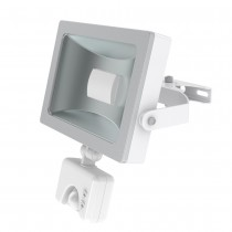 JCC Niteflood JC45121 LED Mains & PIR IP65 15W 120Deg 1100lm Floodlight 5700K White/Silver