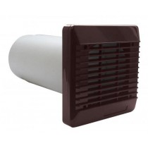 "Vent-Axia 254100 100mm 4"" Wall Kit Brown, c/w Sleeve & External Grille"