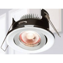 ML Accessories Knightsbridge VFR8TCW LED, Proknight Fire Rated Tilt IP20 Downlight c/w Dimmable Driver