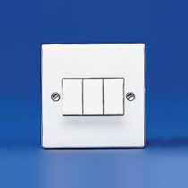 Volex Accessories VX1050 10A 3 Gang 2 Way Plate Switch