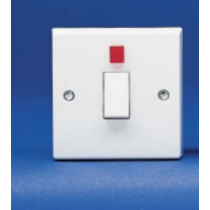 Volex Accessories VX1060 20A DP switch with Neon Flex Outlet