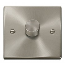 VPSC140 Click Deco Victorian Satin Chrome 1 Gang 2 Way 400W Dimmer