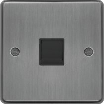 Hager WRRJ45BSB Socket, RJ45, Black Insert, Size:	20x86x86mm - available instore and online from John Cribb & Sons Ltd