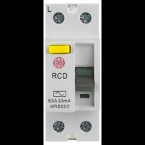 Wylex WRS63/2 RCD, DP Class AC, Size: 63A 30mA