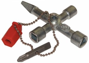 CK TOOLS  495002  Universal Cross Key for use on Locking Systems of Electric, Gas and Water Cupboards
