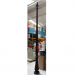 Fumagalli 208 Trio 3500MM Post in Black with Door (Resin & Steel)