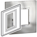"BTICINO / LEGRAND 576486, Surround plates for 2·5"" multimedia display screens, STAINLESS STEEL"