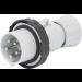Gewiss GW60044H, Plug, 3P+N+E 7h, IP66/IP67/IP68/IP69 Screw Wiring, Size: 32A 500V 50/60Hz