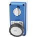 Gewiss GW66222N, Socket, 3P+N+E Vertical Interlock, OWB 7H SBF, Size: 32A 500V